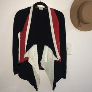 Ana Couture / Color Block Long Sleeve Cardigan